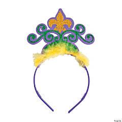 Glittered Mardi Gras Tiaras