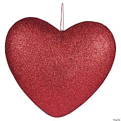 Glittery Heart Hanging Decorations