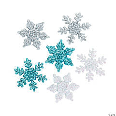 Glittery Snowflakes Shapes