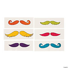 Glitzy Chicks™ Glitter Mustache Tattoos