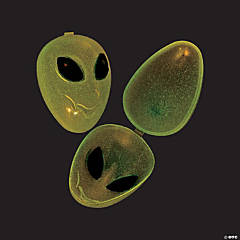 Glow-in-the-Dark Alien Easter Eggs