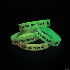 Glow-in-the Dark Christian Pumpkin Bracelets