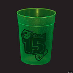 Glow-in-the-Dark 2015 Graduation Cups