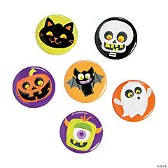 Glow-in-the-Dark Halloween Mini Buttons