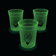 Glow-in-the-Dark Halloween Plastic Cups