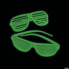 Glow-in-the-Dark Shutter Glasses - 12 Pc.