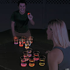 Glow-in-the-Dark Water Pong Idea