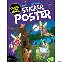 Glowing Fairies Poster Sticker Activity Book