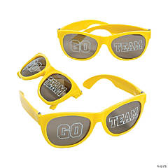 Go Team Yellow Sunglasses