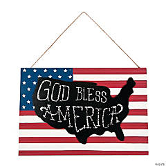 God Bless America Flag Sign