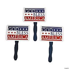 God Bless America Hand Fans