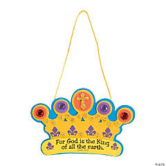 God Is the King of All Sign Crown Craft Kit