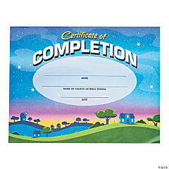 God's Galaxy VBS Certificates of Completion