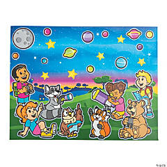 God's Galaxy VBS Sticker Scenes