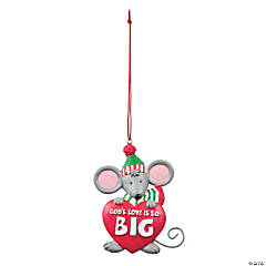 God's Love Is So Big Mouse Christmas Ornaments