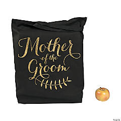 Gold & Black Mother of the Groom Tote Bag
