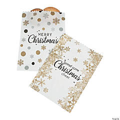 Gold & Silver Christmas Cake Bags