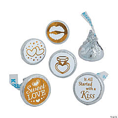 Gold & White Stickers for Hershey?s® Kisses®