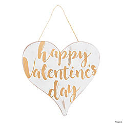 Gold & White Valentine's Day Wall Sign