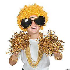 Gold Awareness Ribbon Superfan Costume Idea