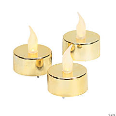 Gold Battery-Operated Tea Light Candles