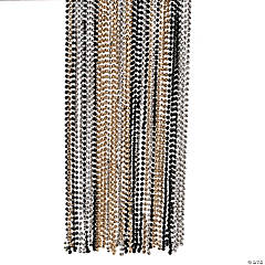 Gold, Black & Silver Bead Necklaces