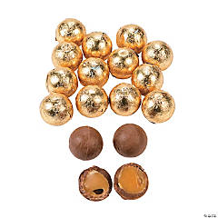 Gold Caramel Balls Chocolate Candy