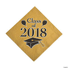 Gold Class of 2018 Grad Party Luncheon Napkins