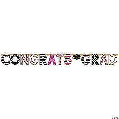 Gold Confetti Graduation Letter Cardboard Banner