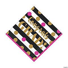 Gold Confetti Graduation Luncheon Napkins