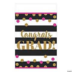 Gold Confetti Graduation Tablecloth