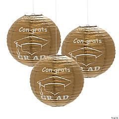 Gold Congrats Grad Hanging Paper Lanterns