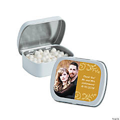 Gold Custom Photo Mint Tins