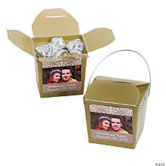 Gold Custom Photo Take Out Boxes