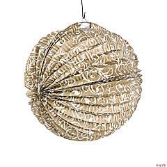 Gold Flourish Hanging Paper Lanterns