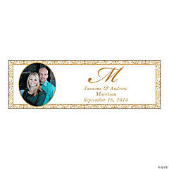 Gold Flourish Medium Custom Photo Banner