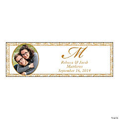 Gold Flourish Small Custom Photo Banner