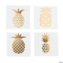 Gold Foil Pineapple Tattoo Assortment