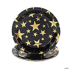 Gold Foil Star Paper Dinner Plates