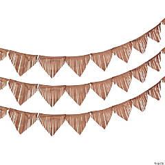 Gold Fringe Paper Pennant Banner