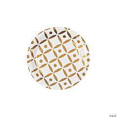 Gold Geometric Dessert Paper Plates