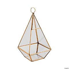 Gold Geometric Hanging Terrarium