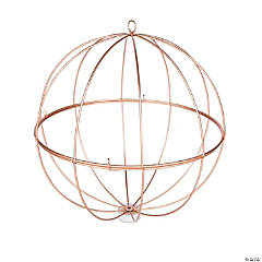 Gold Geometric Sphere