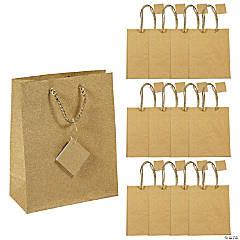 Gold Glitter Medium Gift Bags