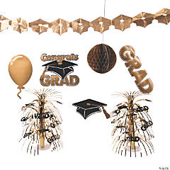 Gold Graduation Decorating Kit