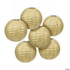 Gold Hanging Paper Lanterns