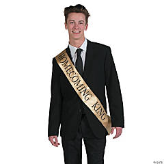 Gold Homecoming King Sash