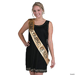 Gold Homecoming Queen Sash