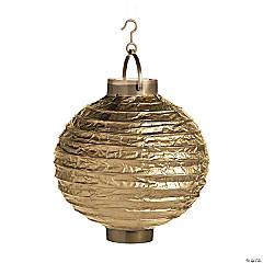 Gold Light-Up Hanging Paper Lanterns