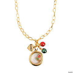 Gold Locket Filler Necklace Idea